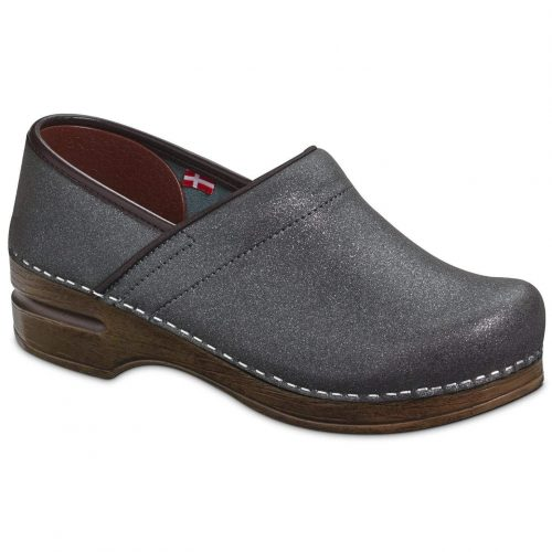 Moonstone Sanita Closed Back Clog in Charcoal